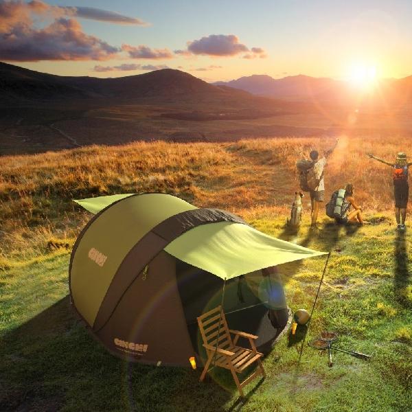 Unik, Tenda Portabel Ini Bisa Hasilkan Listrik