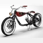 Rendering Chopper Klasik dengan Desain Carota Hancurkan e-Bikes Tradisional