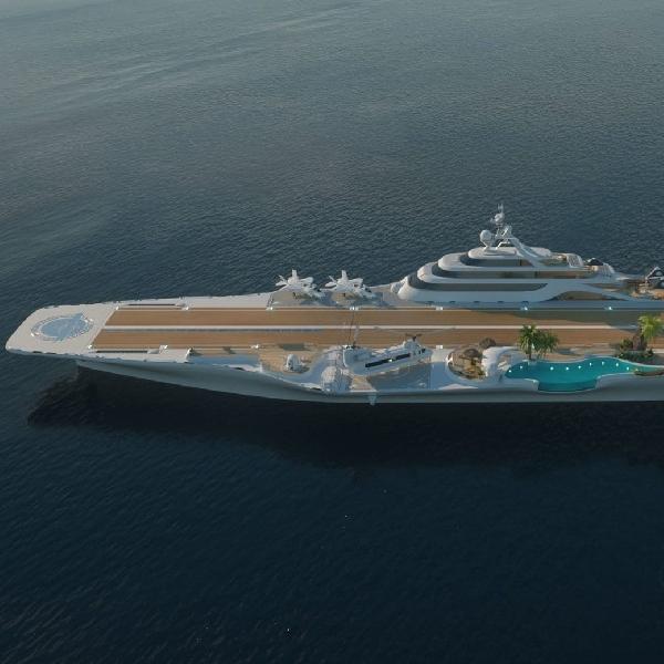 Tampilan Kapal Induk Pertama di Dunia yang Diubah Menjadi Superyacht