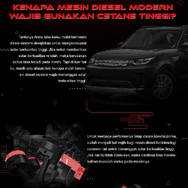 Kenapa Mesin Diesel Modern Wajib Gunakan Cetane Tinggi ?