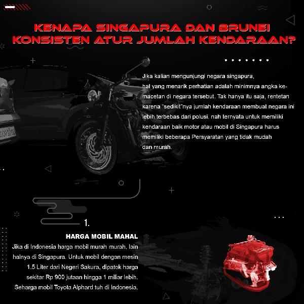 Kenapa Singapura dan Brunei Konsisten Atur Jumlah Kendaraan