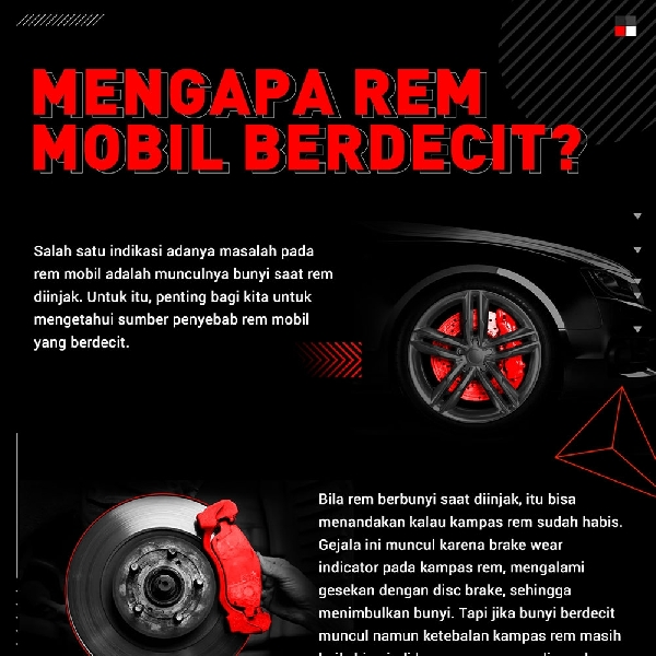 Mengapa Rem Mobil Berdecit ?