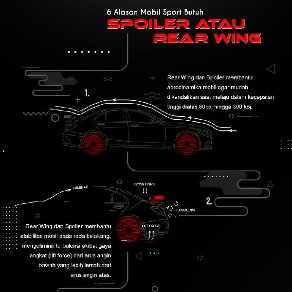 6 Alasan Mobil Sport Butuh Spoiler Atau Rear Wing