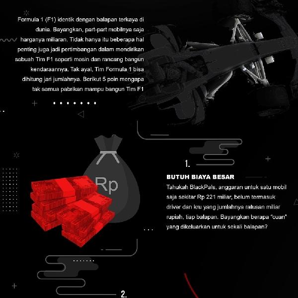 Kenapa Tak Semua Pabrikan Mampu Bikin TIm F1