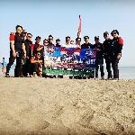 Touring Proklamasi, 30 Member BMC Jakbar Gelar Upacara Bendera di Geopark Cileutuh