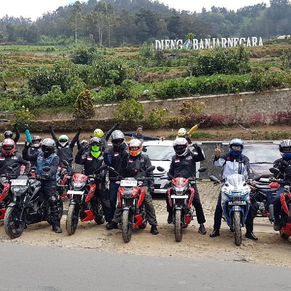 Komunitas Suzuki Touring Menuju Dieng
