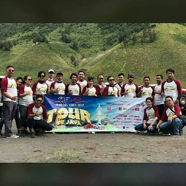 154 Peserta Ramaikan Jambore Nasional Yaris Tour De Java