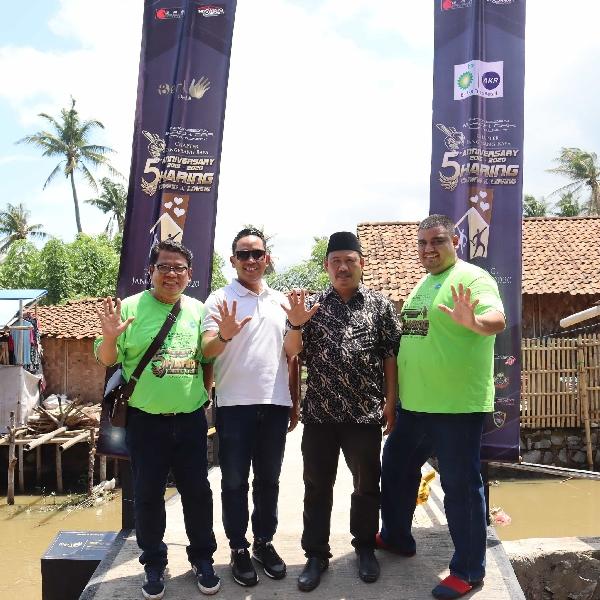 Everyday Brighter Move, Kolaborasi BP-AKR dan IBCC Bangun Jembatan dan Renovasi Rumah di Desa Anom Tangerang