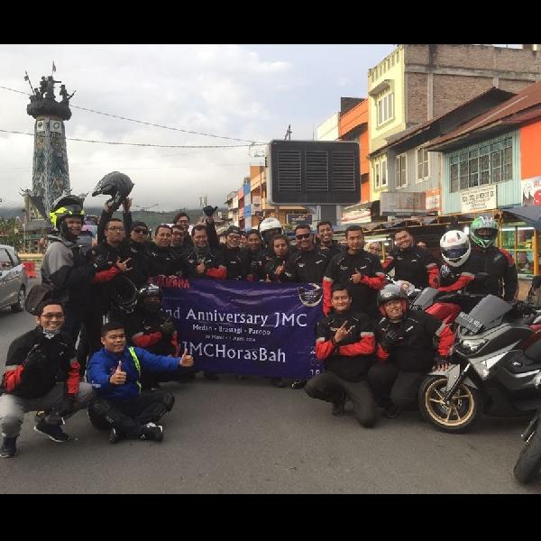 Rayakan Anniversary ke-2, JMC Touring dari Medan ke Toba Sejauh 300 KM