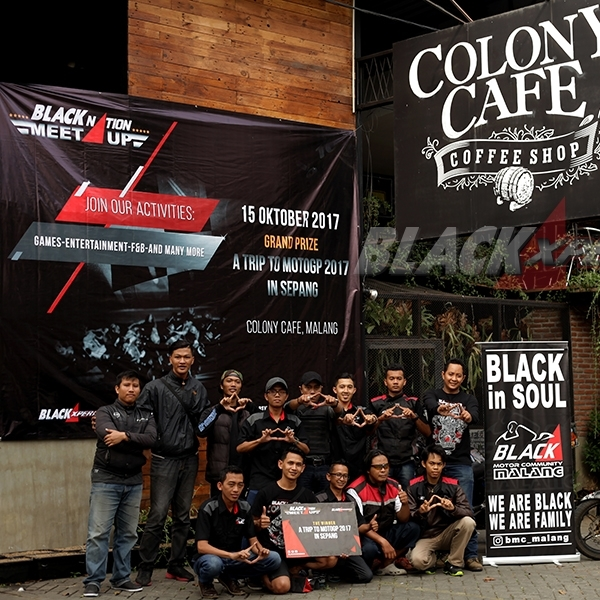 Serunya BLACKNATION MEET UP Bersama Komunitas Motor Malang