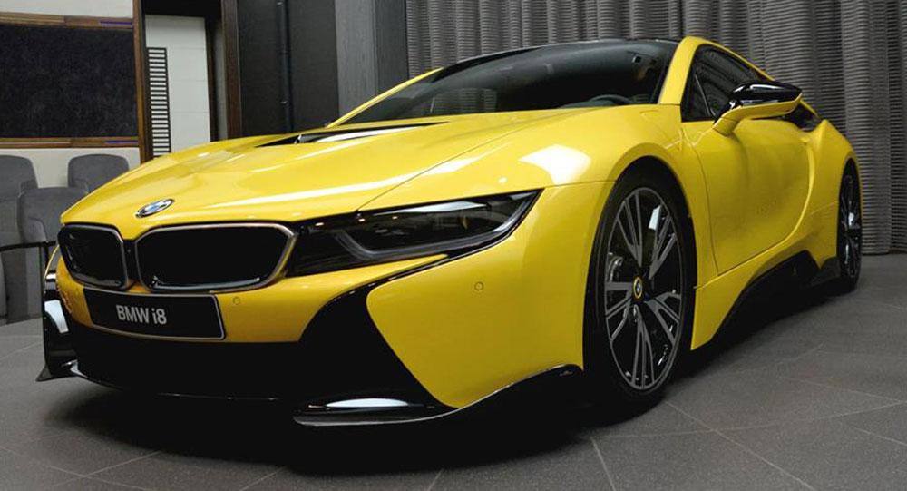 Bmw I8 Berkelir Kuning Stabilo Goda Konsumen Abu Dhabi Blackxperience Com