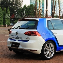Rear View VW Golf MK7