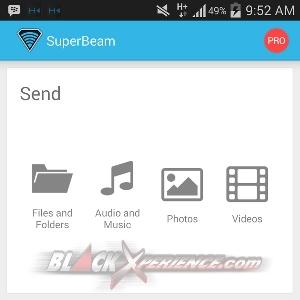 SuperBeam - Layar Awal