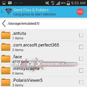 SuperBeam - Memilih File Dari Folder Storage