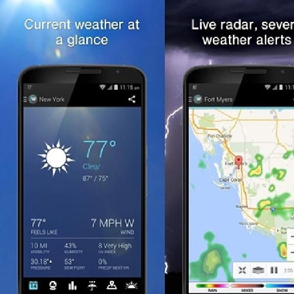 5 Aplikasi Cuaca Terbaik Android