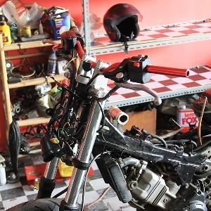 Stang flatbar dan suspensi Yamaha Byson