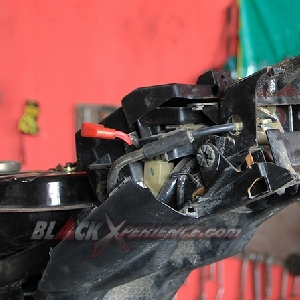 Sisi belakang Honda CS One
