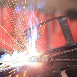 Proses lanjutan pengelasan bracket tangki