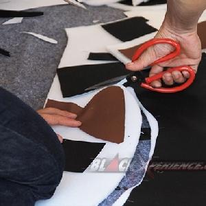 Pemotongan pola bahan interior