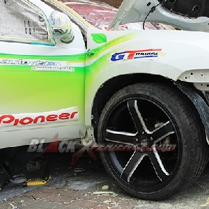 Roda setelah terpasang