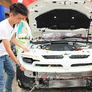 Fitting bumper custom, menyesuaikan bracket bumper dan lampu
