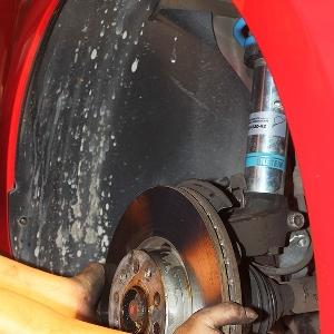 Disc brake standar dilepas