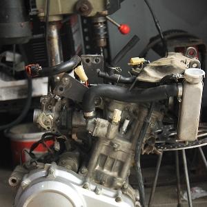 Mesin bulat Yamaha V-Ixion yang siap menopang modifikasi supermoto bertampang Aprilia SXV