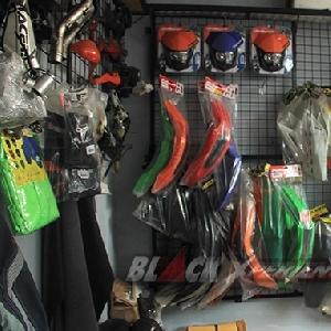 Deretan parts modifikasi di area store Caos Custom Bike