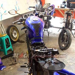 Kondisi motor setelah sbegain komponen dibongkar