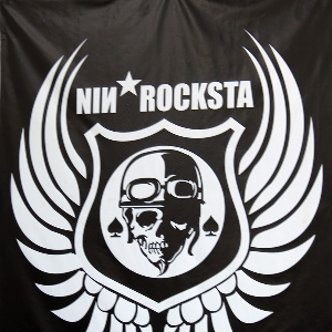 Logo bengkel Nin *Rocksta di area depan