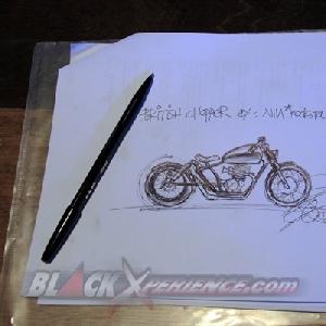 Inilah wujud Honda GL Max british chopper nantinya