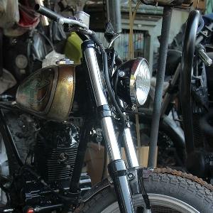 Motor modifikasi lainnya yang sedang dalam proses pengerjaan