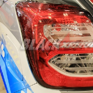 Detail, mika lampu pun di grafir dengan nama konsep modifikasi