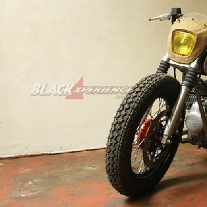 Tampang final modifikasi bobber Moto Guzzi V7 II Racer by KickAss Choppers