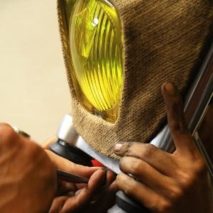 Vero memasang headlamp custom