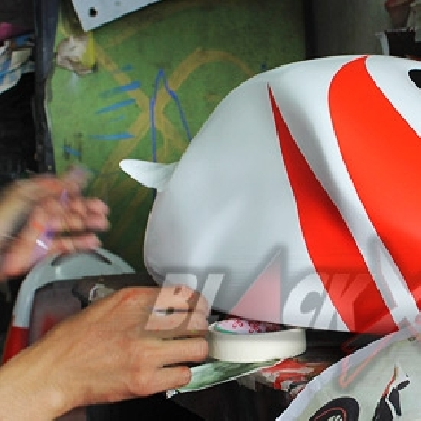 Airbrush dan Sticker Balut Bodi Tiger