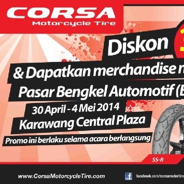 Achilles Corsa berikan diskon di Pasar Bengkel Automotif Karawang
