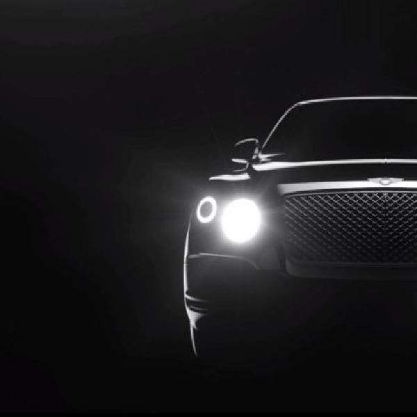 Video teaser pertama ungkap kemolekan crossover Bentley 2016