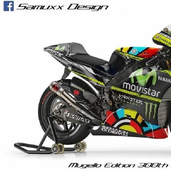 Desain motor Rossi untuk balapan ke-300