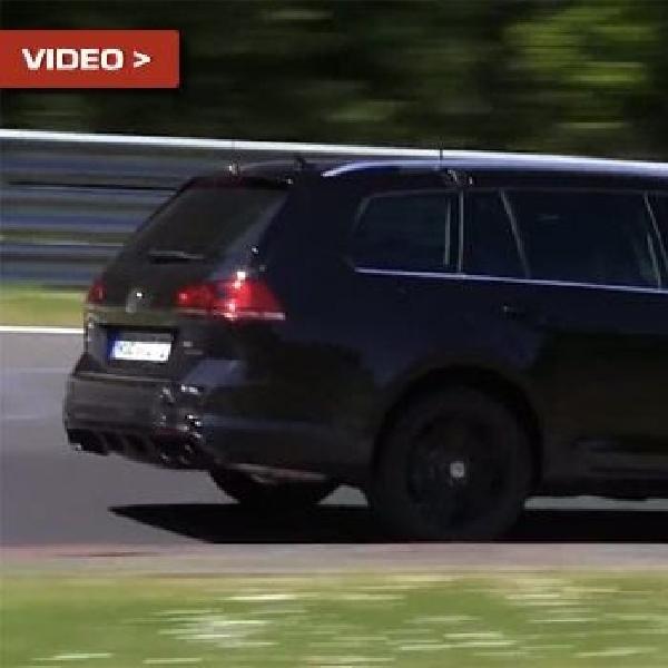 Versi Wagon dari VW Golf R kembali tertangkap kamera