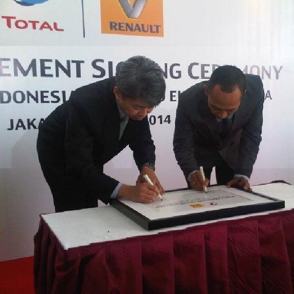 Total Oil Indonesia dan Renault Indonesia jalin kerjasama
