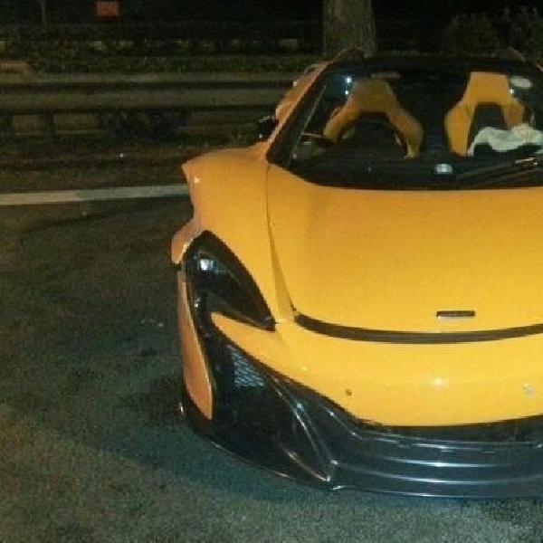 Kecelakaan pertama McLaren 650S Spider