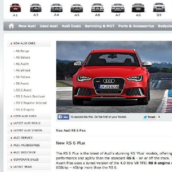 Rincian Audi RS6 Avant Plus terkuak