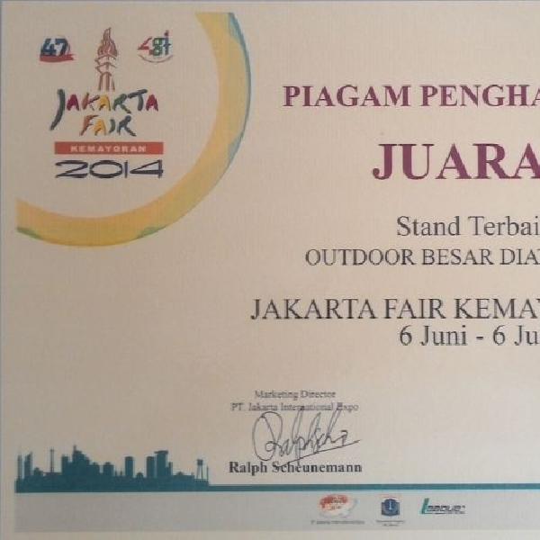 Stand Terbaik dan banjir hadiah dari Suzuki di malam pamungkas Jakarta Fair 2014