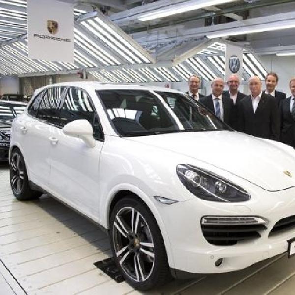 Pabrik Volkswagen siap produksi Porsche Cayenne 2015