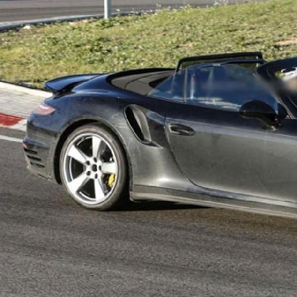 Porsche Tertangkap Kamera Uji Coba 911 Turbo Cabrio Facelift