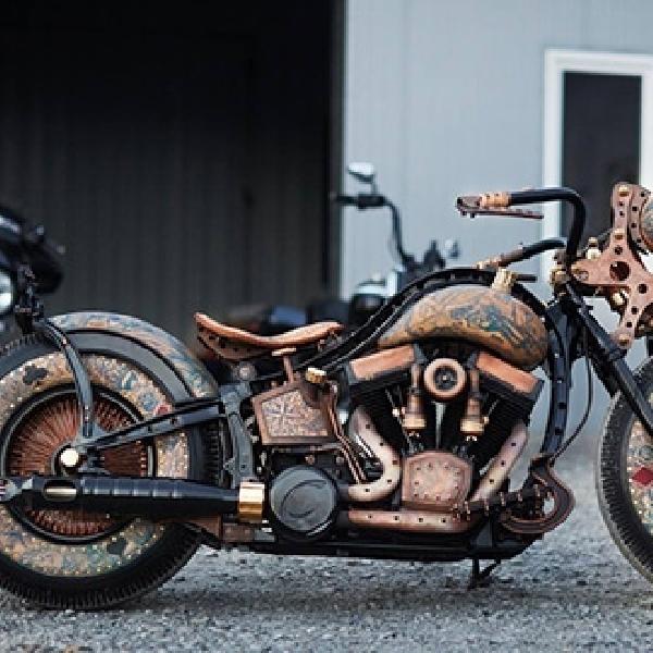 Modifikasi Harley-Davidson Softail, Radikal dengan Bodi Bertato