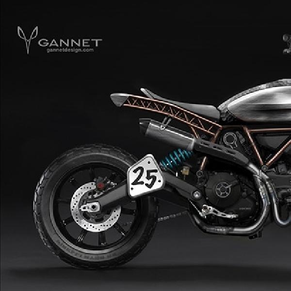 Modifikasi Ducati Scrambler ala Gannet Design