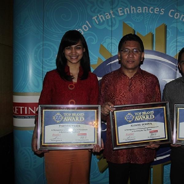 Avanza, Kijang dan Yaris Kembali Sabet Top Brand Award