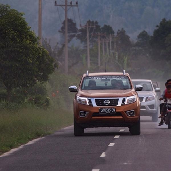 Nissan Uji Ketangguhan All New NP300 Navara di Sinabung